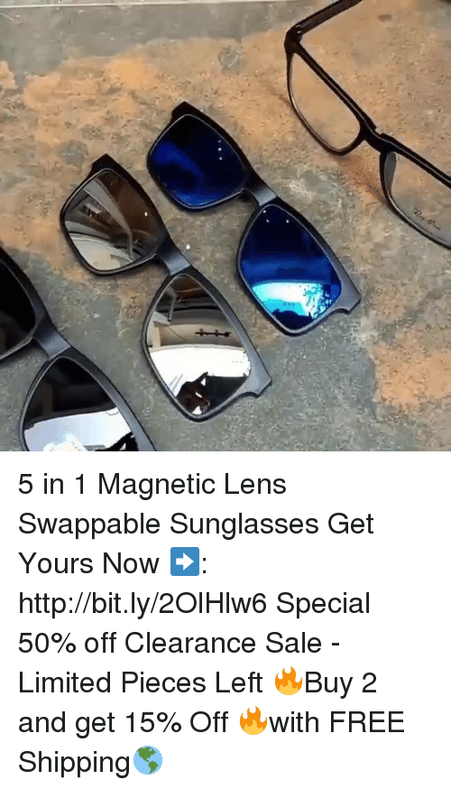 4971ce86ceb 5 in 1 Magnetic Lens Swappable Sunglasses Get Yours Now ...