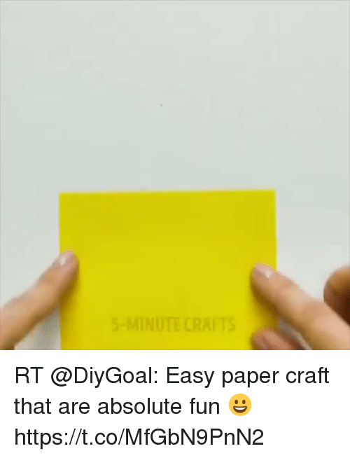 5 Minute Crafts Rt Easy Paper Craft That Are Absolute Fun
