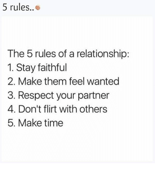 casual relationship rules meme