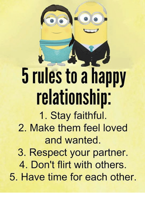 5 rules to a happy relationship 1 stay faithful 2 26489133 5 rules to a happy relationship 1 stay faithful 2 make them feel
