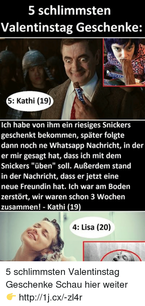 Whatsapp, Http, And German (Language): 5 Schlimmsten Valentinstag  Geschenke: 5