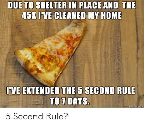 5 Second Rule, Rule, and Second: 5 Second Rule?