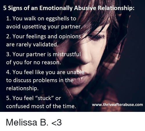 Mentally a relationship being signs abusive in of 10 Red
