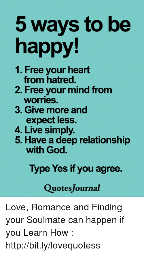 5 Ways to Be Happy! 1 Free Your Heart From Hatred 2 Free