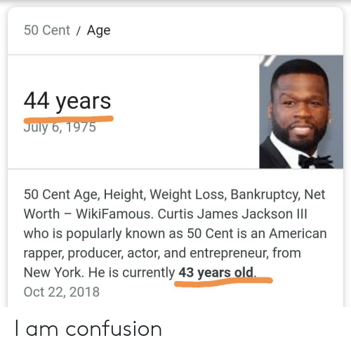 50 Cent Age 44 Years July 6 1975 50 Cent Age Height Weight Loss