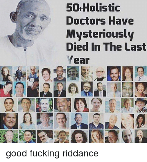 50 Holistic Doctors Have Mysteriously Died in the Last Year