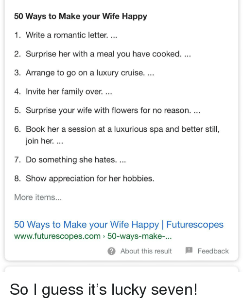 Family Funny And Book 50 Ways To Make Your Wife Happy 1