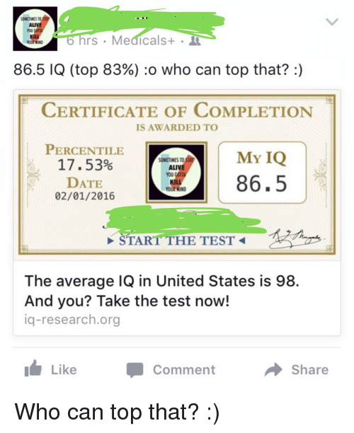 Iq test dating site