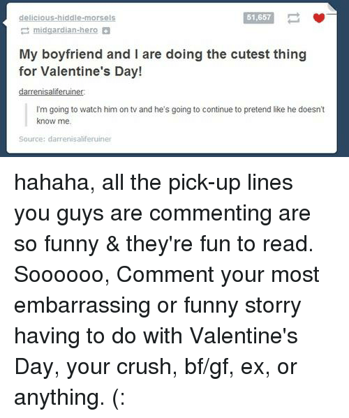 Cute pickup lines for boyfriend
