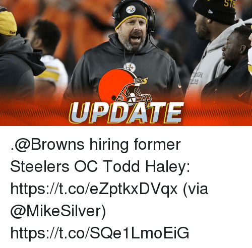 Memes, Browns, and Steelers: 518  OH  UPDATE .@Browns hiring former Steelers OC Todd Haley: https://t.co/eZptkxDVqx (via @MikeSilver) https://t.co/SQe1LmoEiG