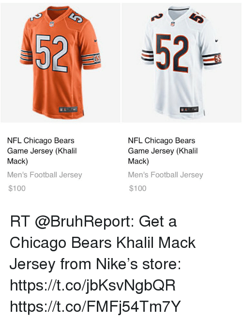 532b6269cbe 52 NFL Chicago Bears Game Jersey Khali Mack Men s Football Jersey ...