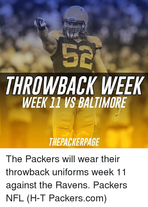 2bb2f6f3835 52 THROWBACK WEEK WEEK 11 VS BALTIMORE THEPACKERPAGE the Packers ...