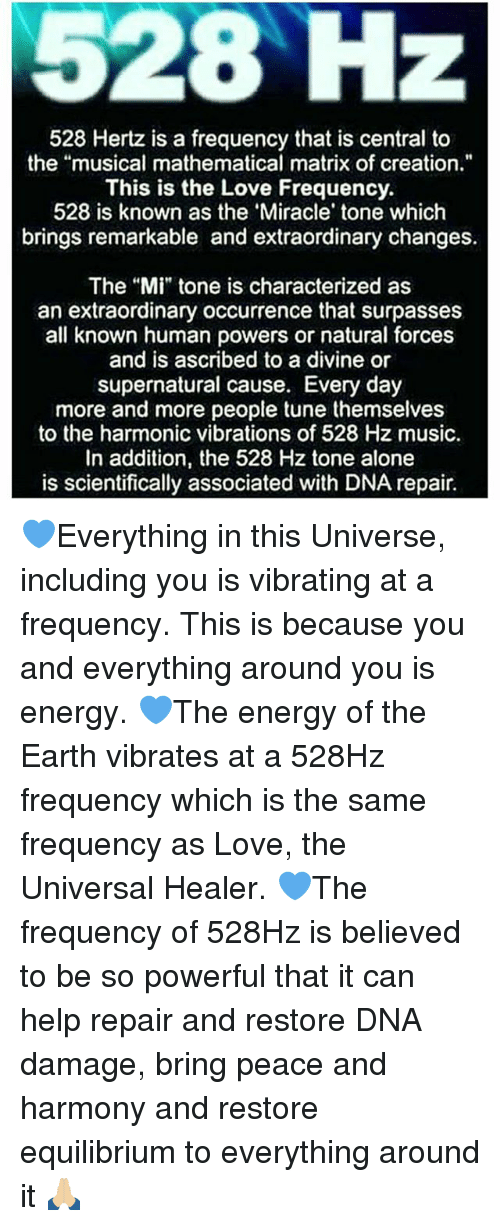 528 Hz 528 Hertz Is a Frequency That Is Central to the