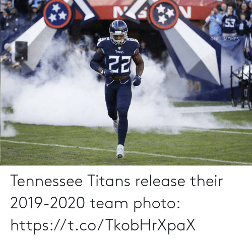 Football, Memes, and Nfl: 53  @NFL_MEMES  TITANS Tennessee Titans release their 2019-2020 team photo: https://t.co/TkobHrXpaX