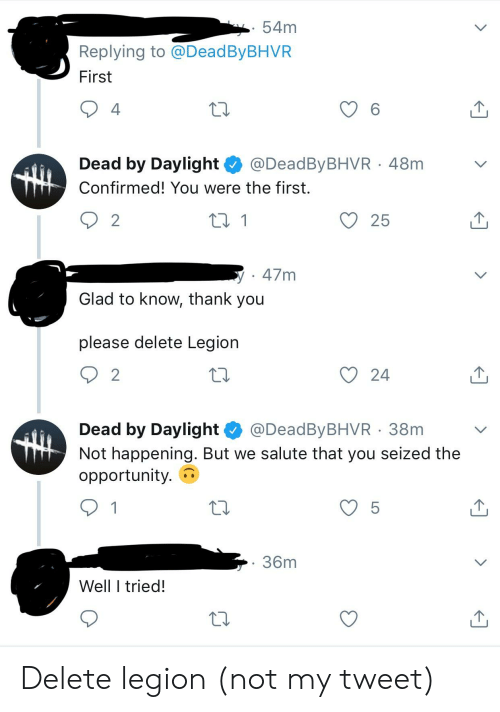 Thank You Opportunity And Legion 54m Replying To Deadbybhvf First 4 6