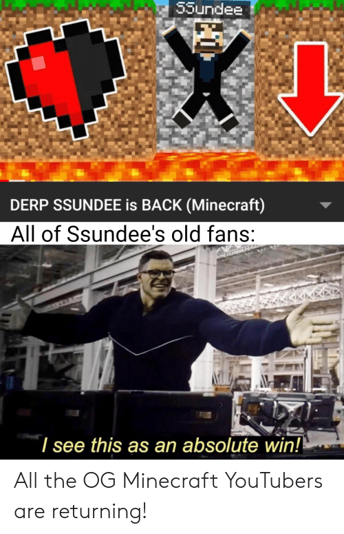 55undee DERP SSUNDEE Is BACK Minecraft All of Ssundee's Old