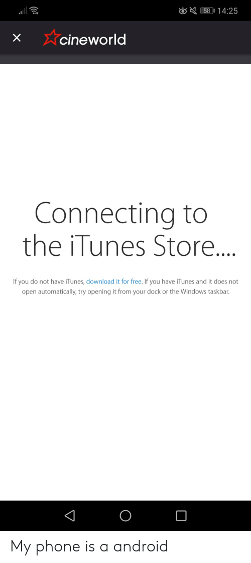 58 1425 Xcineworld Connecting to the iTunes Store if You Do