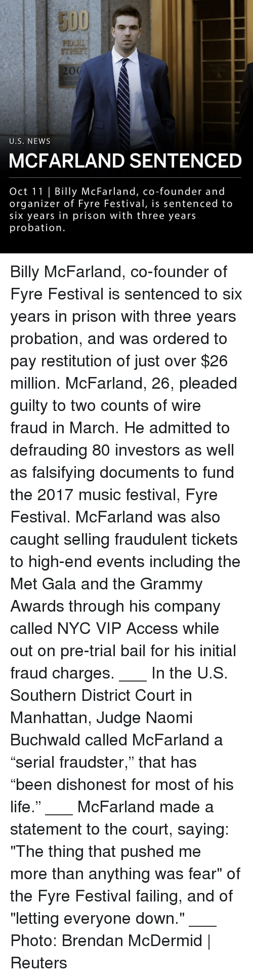 """Grammy Awards, Life, and Memes: 5UU  PDI  U.S. NEWs  MCFARLAND SENTENCED  Oct 11 