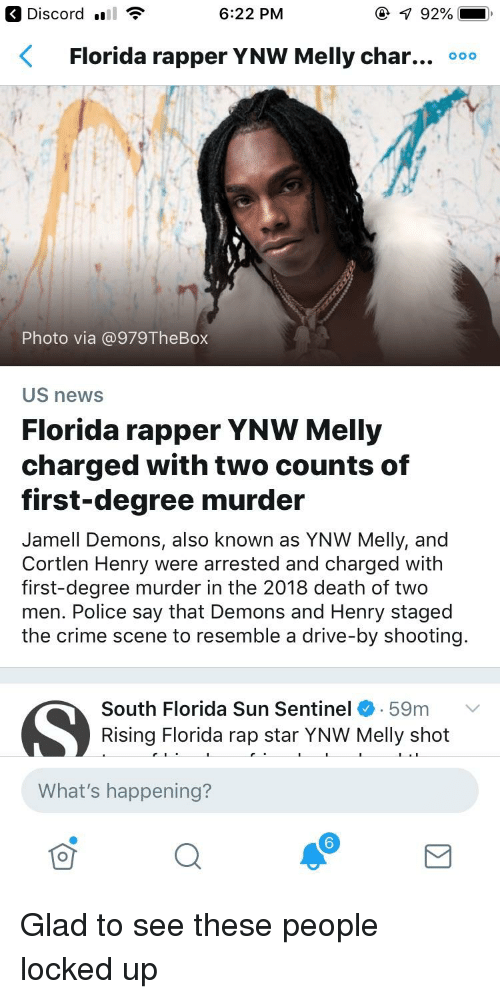 622 PM Florida Rapper YNW Melly Char Ooo Photo via US News