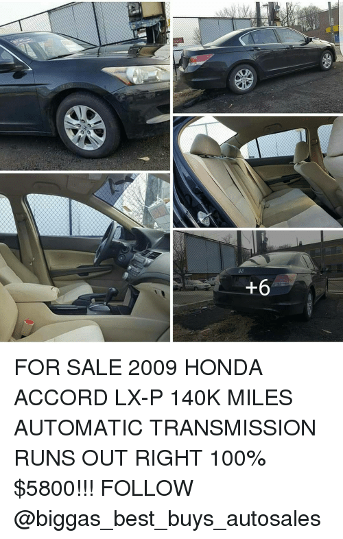 Best Buy Transmission >> 6 For Sale 2009 Honda Accord Lx P 140k Miles Automatic