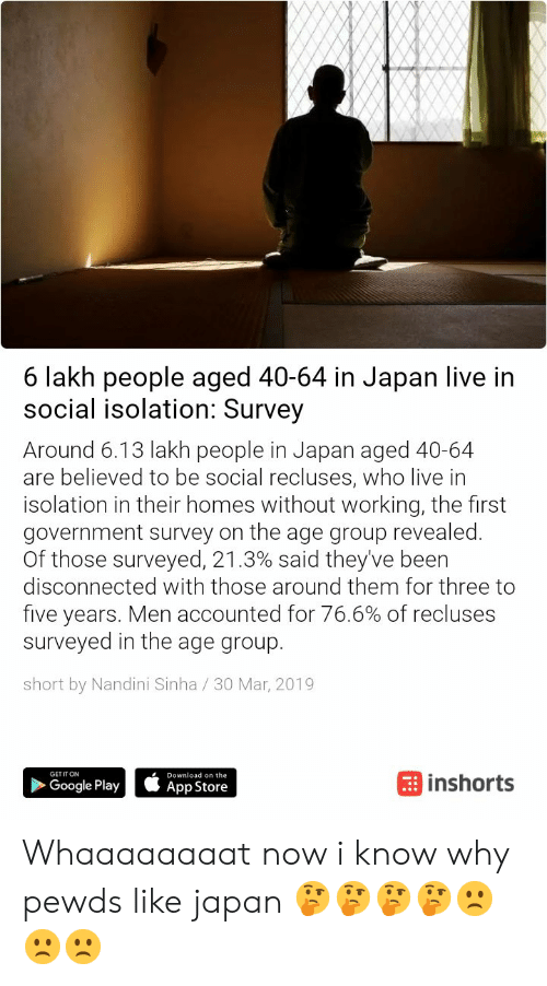 6 Lakh People Aged 40-64 in Japan Live Itn Social Isolation Survey