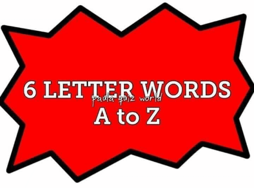 6 LETTER WORDS a to Z | Meme on ME ME