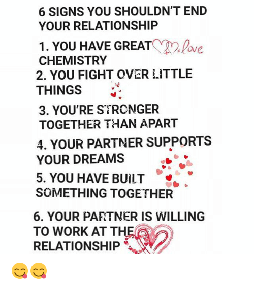 When to end a relationship signs
