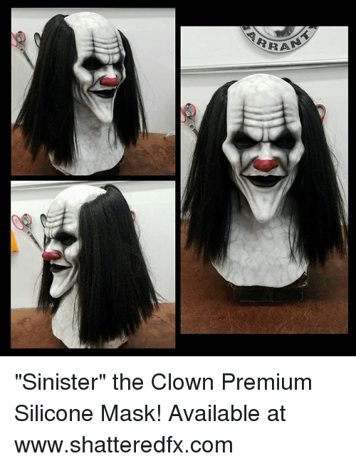 6 Sinister The Clown Premium Silicone Mask Available At