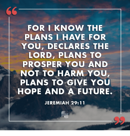 Image result for i know the plans i have for you says the lord