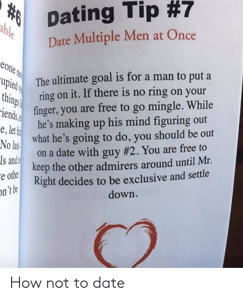 How to dating a man