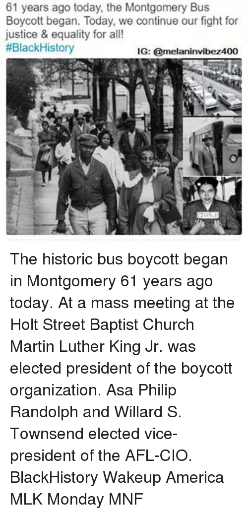 Blackhistory, Church, and Martin: 61 years ago today, the Montgomery Bus Boycott