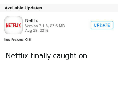 Netflix Finally Caught on Available Updates New Features Chill