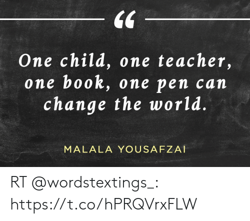 Memes, Teacher, and Book: 64  One child, one teacher,  e book, one pen c  change the world  on  an  MALALA YOUSAFZAI RT @wordstextings_: https://t.co/hPRQVrxFLW