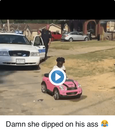 Damn she dipped on his ass 😂 : Damn she dipped on his ass Damn she dipped on his ass 😂