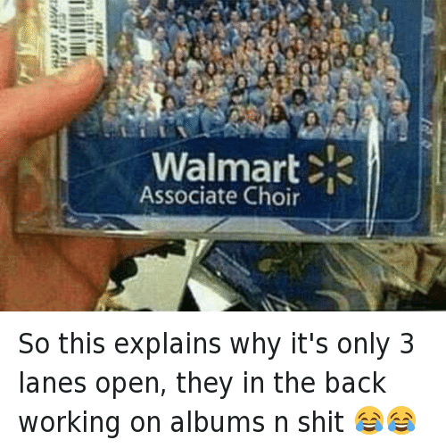 So this explains why it's only 3 lanes open, they in the back working on albums n shit 😂😂: So this explains why it's only 3 lanes open, they in the back working on albums n shit 😂😂