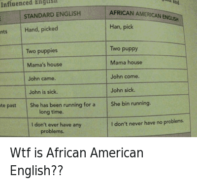 Wtf is african american english standard english african american puppies run and slangwords wtf is african american english m4hsunfo