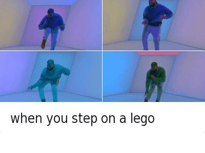 when you step on a lego when you step on a lego