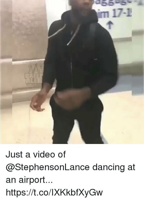 me.me: 66-6  m 17-1 Just a video of @StephensonLance dancing at an airport... https://t.co/IXKkbfXyGw