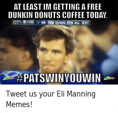 Tweet us your Eli Manning Memes! : @Fun107  Tweet us your Eli Manning Memes! Tweet us your Eli Manning Memes!