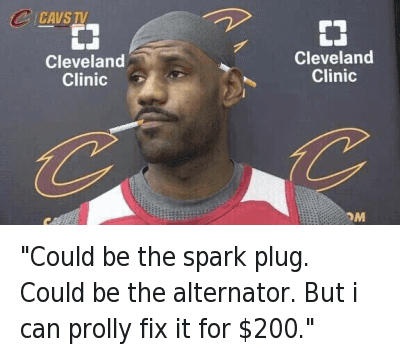 """""""Could be the spark plug. Could be the alternator. But i can prolly fix it for $200."""" """"Could be the spark plug. Could be the alternator. But i can prolly fix it for $200."""""""