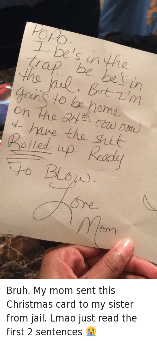 beez in the trap bruh and christmas bruh my mom sent this