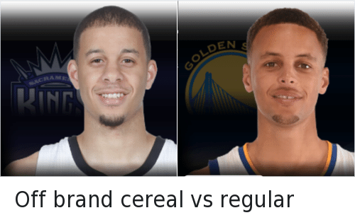 Off brand cereal vs regular: Off brand cereal vs regular  Stephen Curry and Seth Curry Off brand cereal vs regular