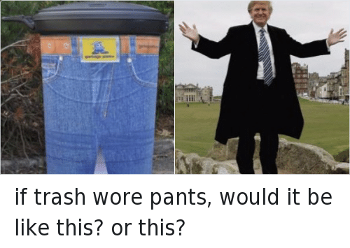 if trash wore pants, would it be like this? or this?: if trash wore pants, would it be like this? or this?