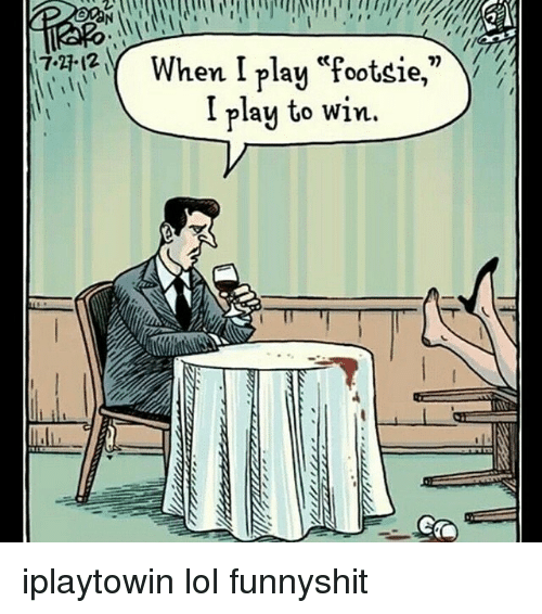 Play footsie