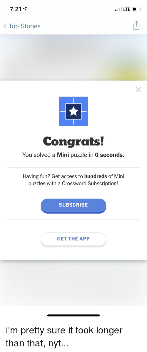 7214 Lte Top Stories Congrats You Solved A Mini Puzzle In 0 Seconds