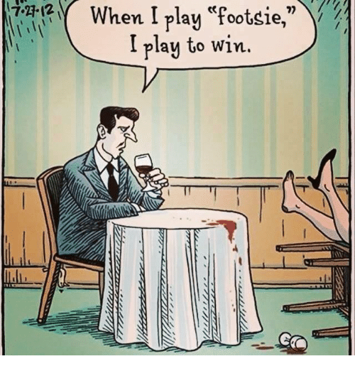 How to play footsie
