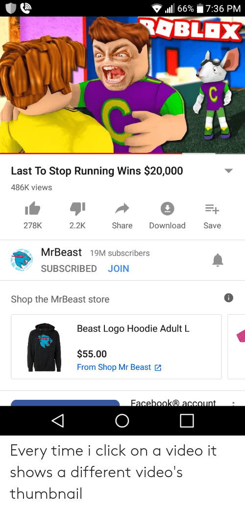 736 Pm 66 Roblox Last To Stop Running Wins 20000 486k Views 278k