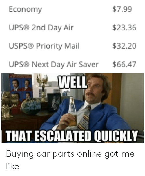 $799 Economy UPS® 2nd Day Air $2336 USPS® Priority Mail