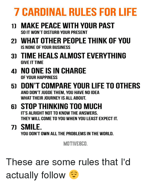 7 Rules Of Life Quote: 25+ Best Memes About Think Of You