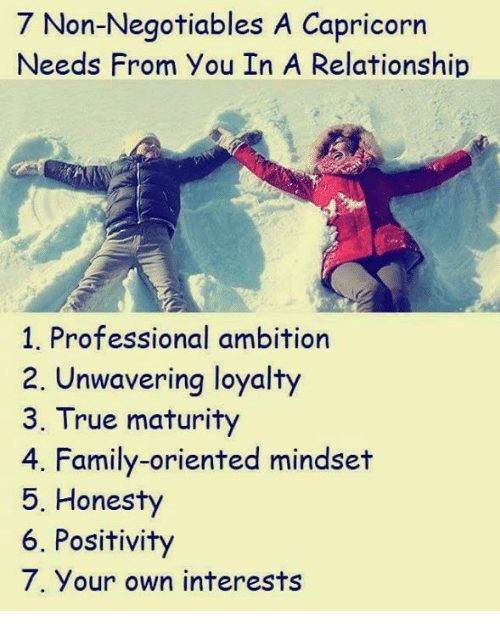 non negotiable needs in a relationship